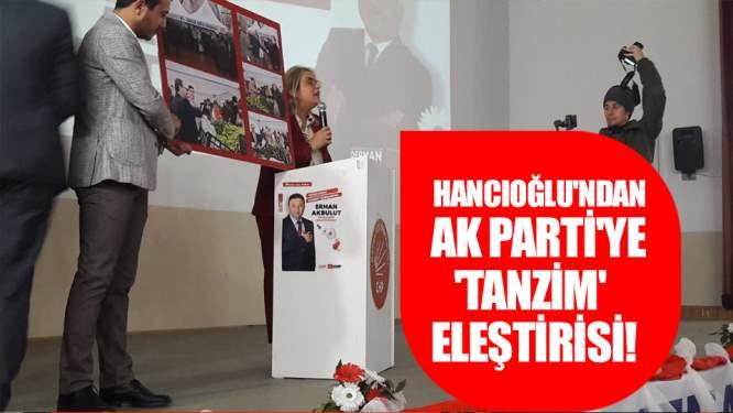 Hancıoğlundan AK Partiye tanzim eleştirisi!