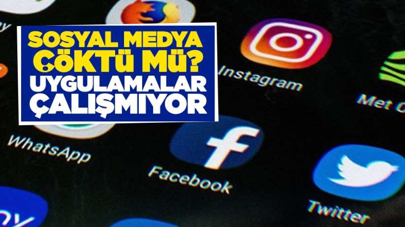 Sosyal medya çöktü mü? Uygulamalar çalışmıyor