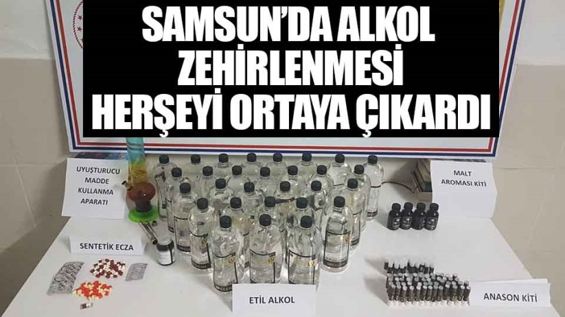 Samsun'da jandarma'dan 'Kaçak içki' operasyonu