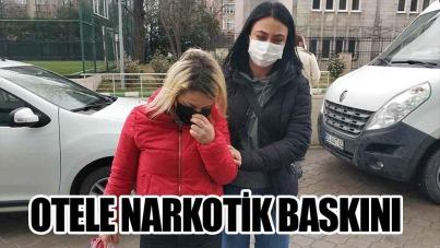 Samsun'da otele narkotik baskını
