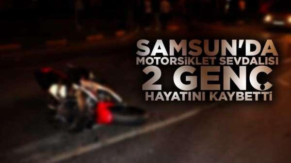 Samsun'da motor kazasında 2 genç öldü