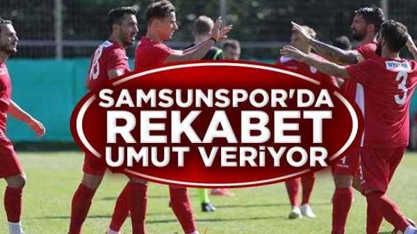 Samsunsporlu oyuncular hırslı! bu sene şampiyon Samsunspor