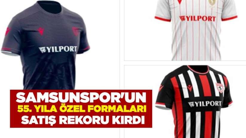 Samsunspor'un 55. Yıla özel formaları satış rekoru kırdı