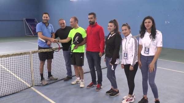 Erzurum'da tenis heyecanı