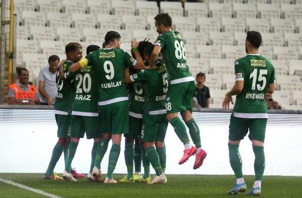 TFF 1. Lig: Bursaspor: 1 - Erzurumspor: 0 (İlk yarı sonucu)