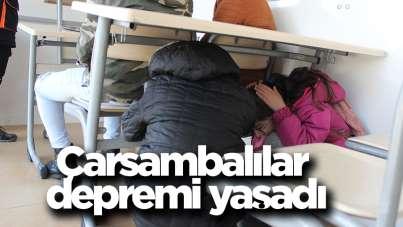 Çarşambalılar depremi yaşadı