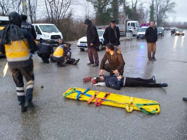 Samsun'da motosiklet kazası: 2 yaralı
