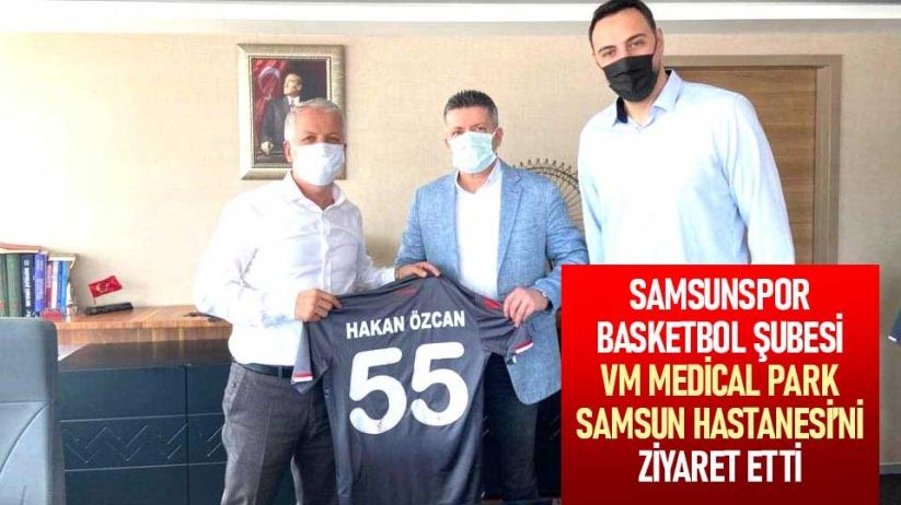 Samsunspor Basketbol Şubesi, VM Medical Park Samsun Hastanesini ziyaret etti