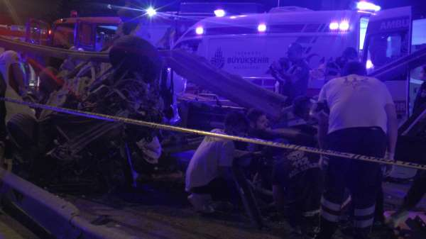 Maltepede korkunç kaza: 1 ölü 3 yaralı