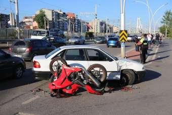 25 gün önce aldığı motosikletle kaza yapan genç ağır yaralandı