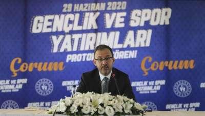 Bakan Kasapoğlu: 'Çorum Stadı'nı Gençlik ve Spor Bakanlığı olarak tamamlayacağız