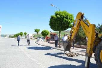 Havza'da asfalt çalışması başladı