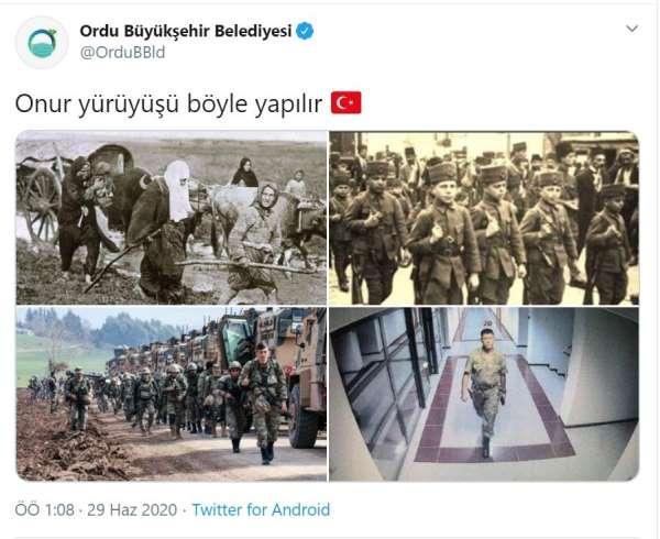 Ordu Büyükşehir Belediyesi'nden 'Onur yürüyüşü böyle olur' hatırlatması
