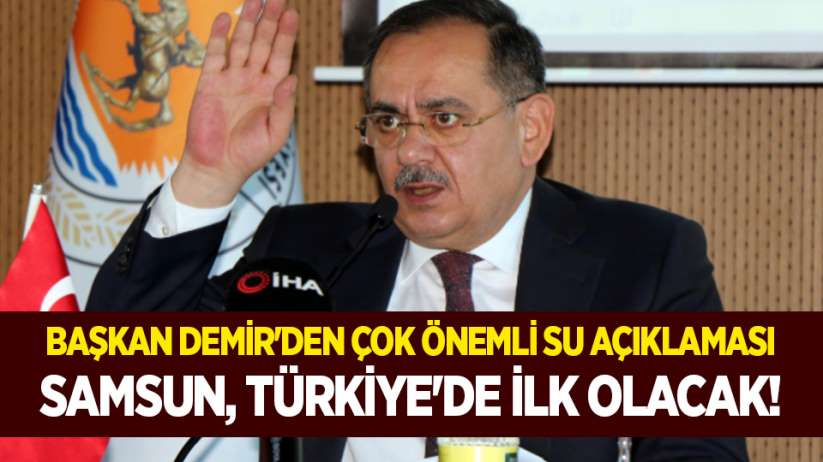 Samsun, Türkiye'de ilk olacak!