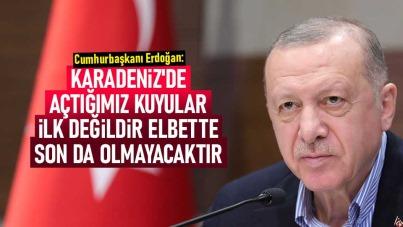 Cumhurbaşkanı Erdoğan: Karadeniz'de açtığımız kuyular ilk değildir elbette son da olmayacaktır