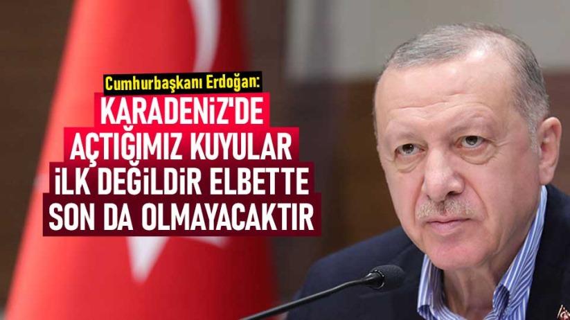 Cumhurbaşkanı Erdoğan: Karadenizde açtığımız kuyular ilk değildir elbette son da olmayacaktır
