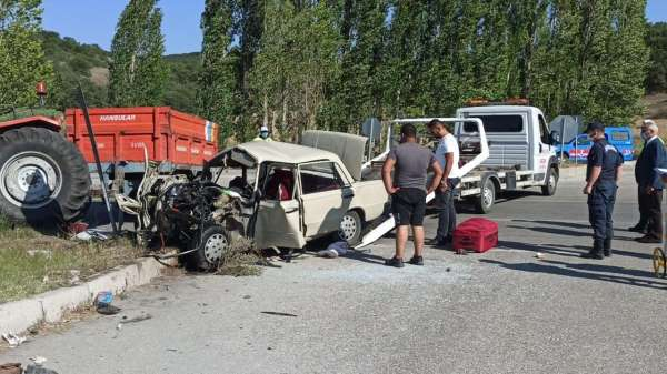 Çorumdaki trafik kazası