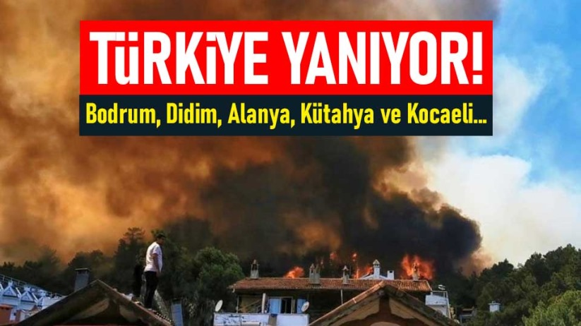 Türkiye Yanıyor! Bodrum, Didim, Alanya, Kütahya ve Kocaeli...