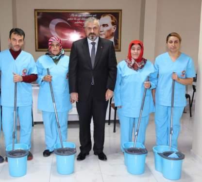 Samsun Haberleri:Bafra Belediyesinden Evde Temizlik Hizmeti