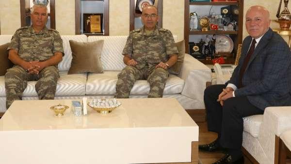 3. Ordu Komutanı Öngay Paşa'dan Başkan Sekmen'e ziyaret