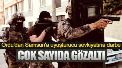Ordu'dan Samsun'a uyuşturucu sevkiyatı! Şok operasyon