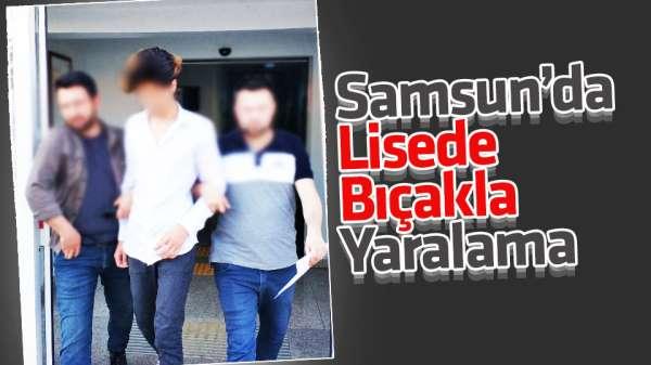 Samsun'da okul çıkışı bıçakla yaralama