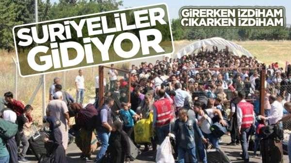 Suriyeliler memleketlerine dönüyor!