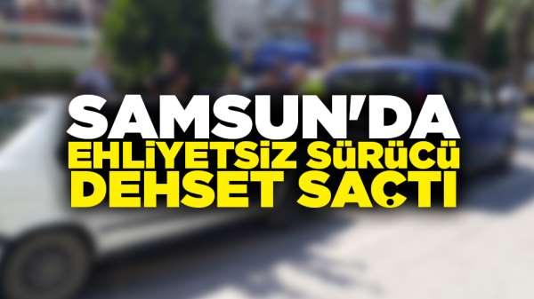 Samsun'da otomobil ile dolmuş çarpıştı
