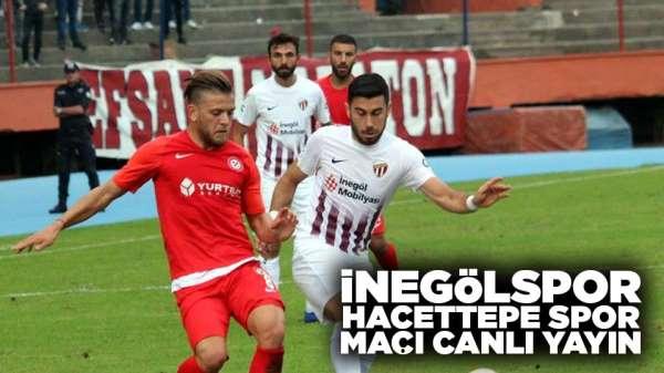 İnegölspor Hacettepe spor maçı canlı yayın var mı?