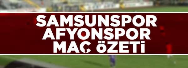 Samsunspor Afjet Afyonspor maç özeti(Bahattin Köse'nin golü)