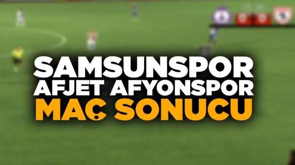 Samsunspor Afjet Afyonspor maç sonucu