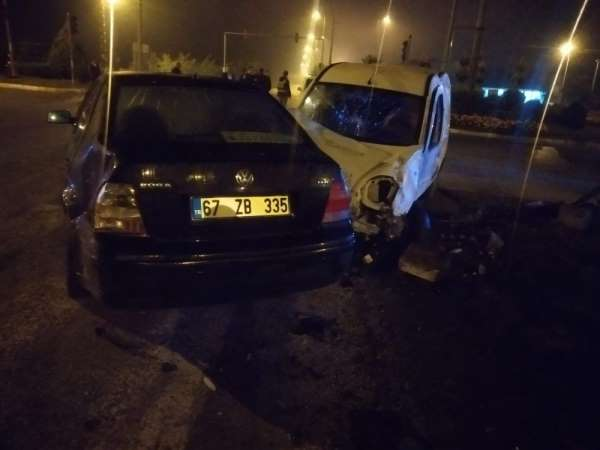 Zonguldak'ta trafik kazası: 2 yaralı