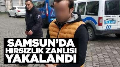 Samsun'da hırsızlık zanlısı yakalandı