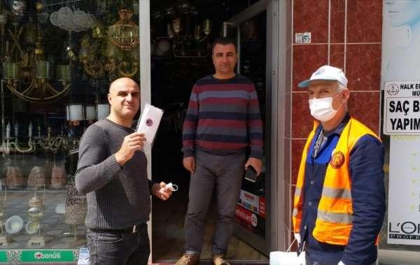 Bafra belediyesinden esnafa maske