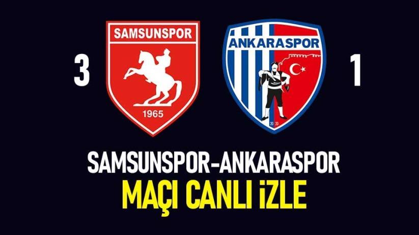 Samsunspor-Ankaraspor maçı canlı yayın