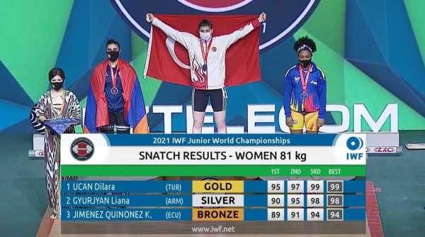 Bartın Üniversitesi öğrencisi Dilara Uçan, halterde dünya şampiyonu oldu