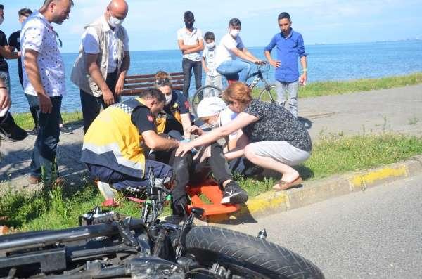 Sollamak isterken kaza yaptı