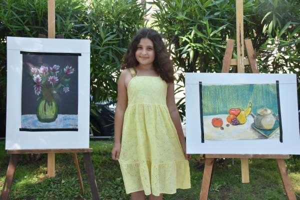 10 yaşındaki Diladan resim sergisi