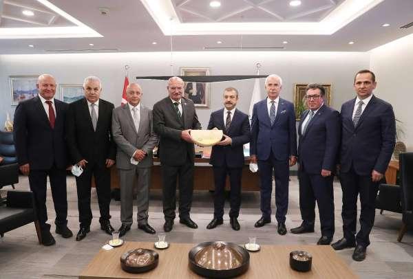 ATO heyetinden Merkez Bankası Başkanı Şahap Kavcıoğluna ziyaret