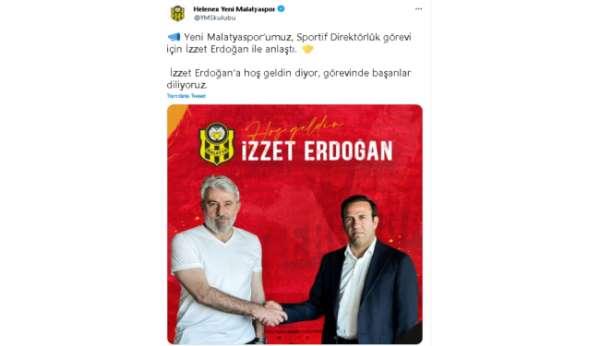 Yeni Malatyasporda sportif direktörlüğe İzzet Erdoğan getirildi