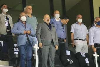Adana Demirspor Başkanı Murat Sancak, özel izinle maçı takip etti