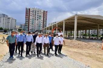 Çilesiz semt pazarı ve yaşam merkezi inşaatına hız kazandırıldı