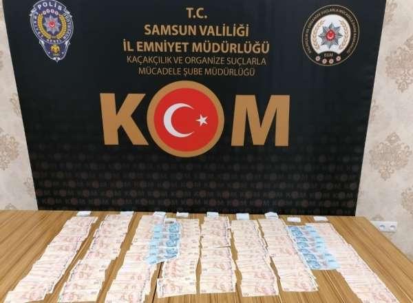Samsun'da şüpheli araçtan 776 adet sahte para ele geçirildi