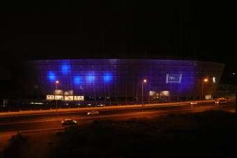 Yeni Adana Stadyumu 'mavi-lacivert' ışıklarla aydınlatıldı