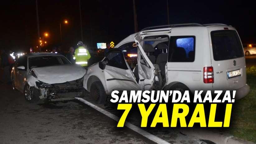 Samsun'da kaza: 7 yaralı