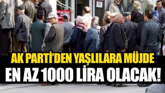 AK Parti'den Milyonlara müjde! En Az 1000 Lira Olacak