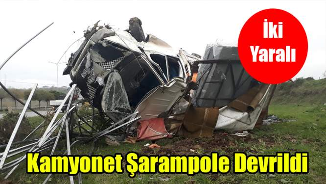 Samsun'da Kamyonet Şarampole Devrildi: 2 Yaralı