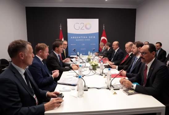 Erdoğan, Mark Rutte İle Görüştü