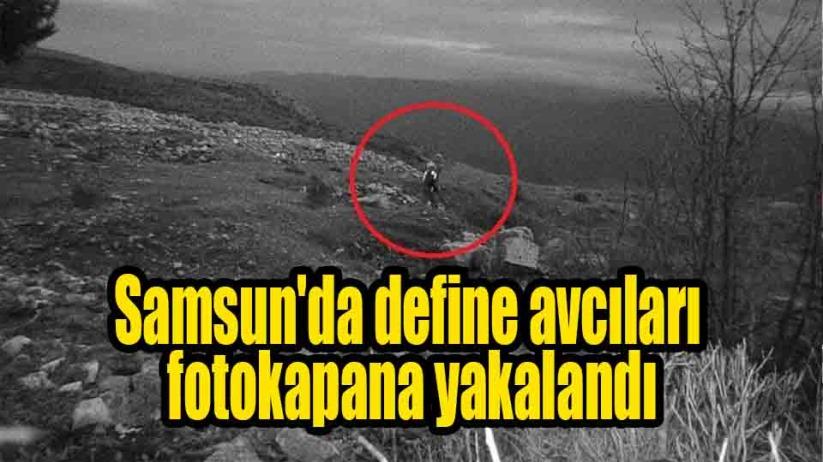Samsunda define avcıları fotokapana yakalandı