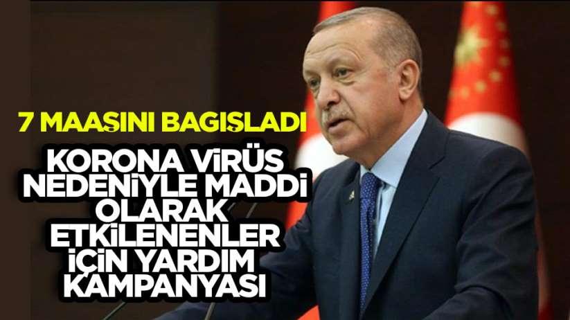 Cumhurbaşkanı Erdoğan Korona Bağış Kampanyası Başlattı